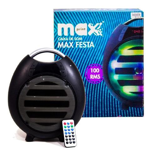 caixa de som bluetooth max festa maxprint 100w oferta!