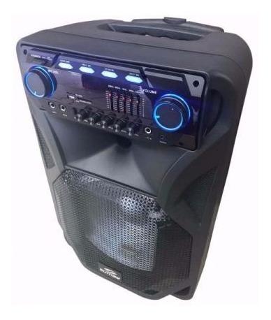caixa de som bluetooth microfone s/ fio c/ bateria  thunder