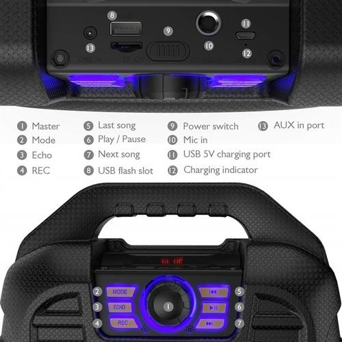 caixa de som bluetooth microfone sem fio auxiliar usb radio