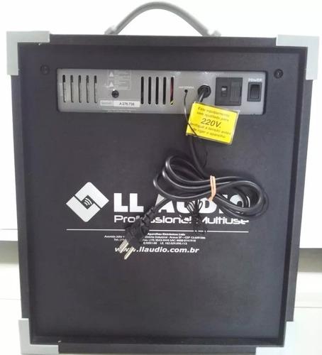 caixa de som bluetooth multiuso ll up8 usb - preta