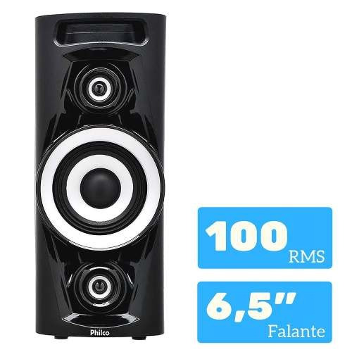 caixa de som bluetooth pht3000 churrasco 100 rms philco