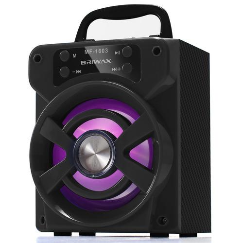 caixa de som bluetooth portátil 15w rádio fm mp3 usb p2 aux