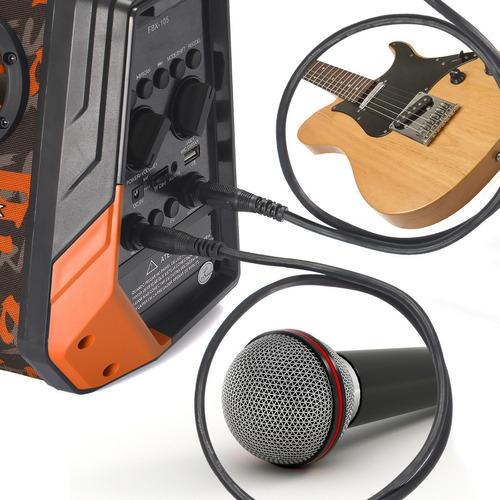caixa de som bluetooth portátil briwax 25w fm usb microfone