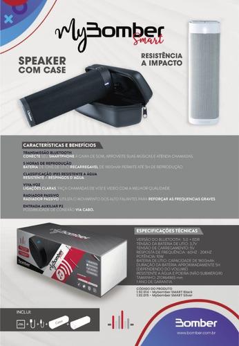 caixa de som bluetooth portátil mybomber smart preto 10w