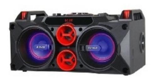 caixa de som bluetooth radio dj bazooca amplificada controle