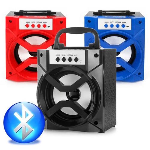 caixa de som bluetooth recarregável 4 altos falantes mp3 usb