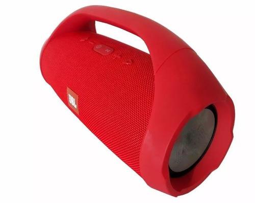 caixa de som boombox grande 60w power top bluetooth+usb+