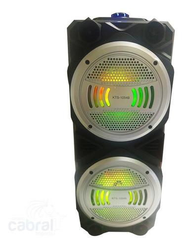 caixa de som c/ karaokê wifi bluetooth usb 10w x2 rádio fm