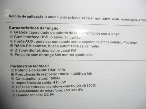 caixa de som c/microfone mk-502 usb/fm/minisd/aux 28w rms