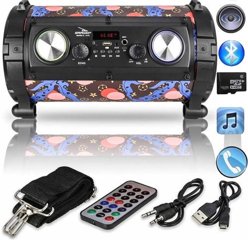 caixa de som com bluetooth,pen drive,cartão de m e microfone