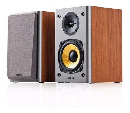 caixa de som edifier r1000t4 c/ 24 w de potência - madeira
