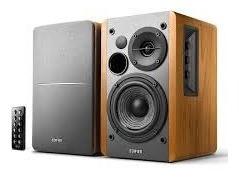caixa de som edifier r1280db madeira monitor bluetooth