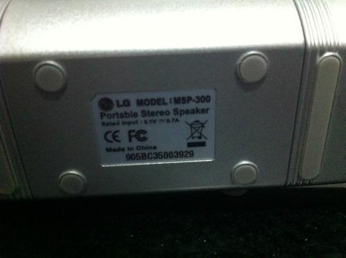 caixa de som estereo lg msp300 prata