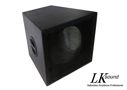 caixa de som, gabinete acústico sub grave 15