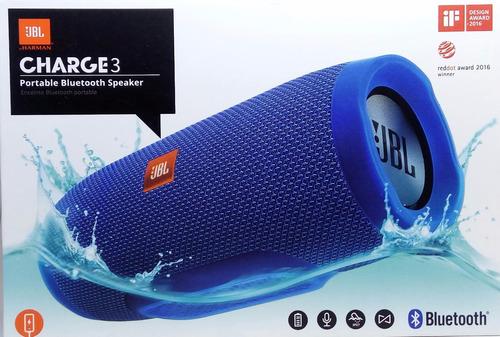 caixa de som jbl charge 3 bluetooth cor azul original
