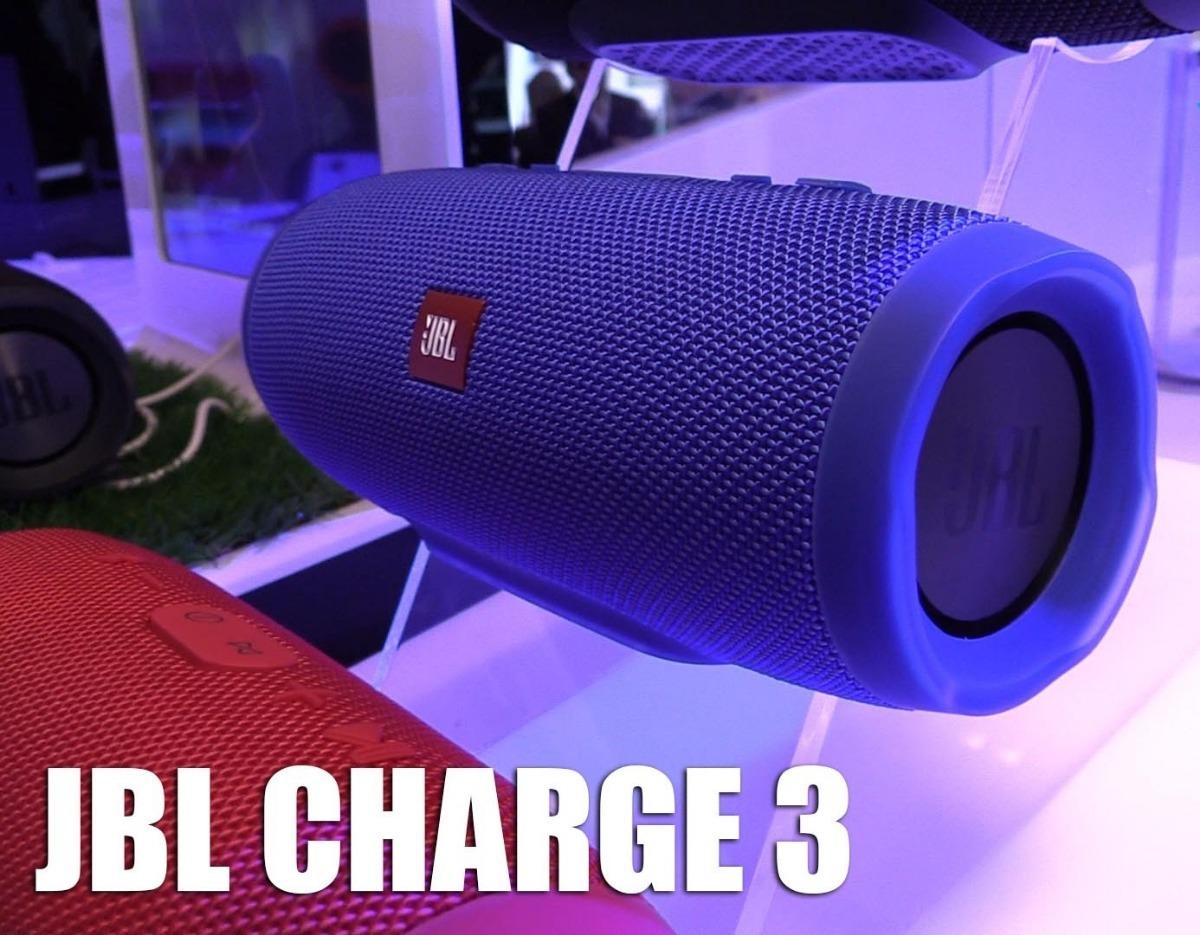 Caixa De Som Jbl Charge 3 Bluetooth Cor Azul Original Jbl