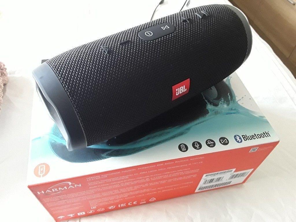 Caixa De Som Jbl Charge 3 Bluetooth Cor Preta Original