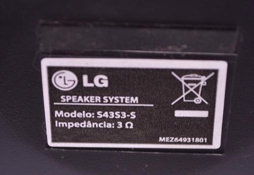 caixa de som lg s43s3-s 3 ohms mez64931801 cada semi novo