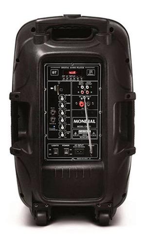 caixa de som mondial connect party cm-11 400w rms