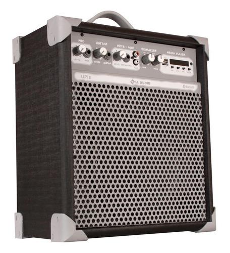 caixa de som multiuso ll up8 com usb e bluetooth - preta