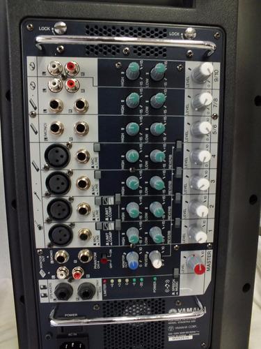 caixa de som par yamaha stagepas 500 110v 65w + mala a8763