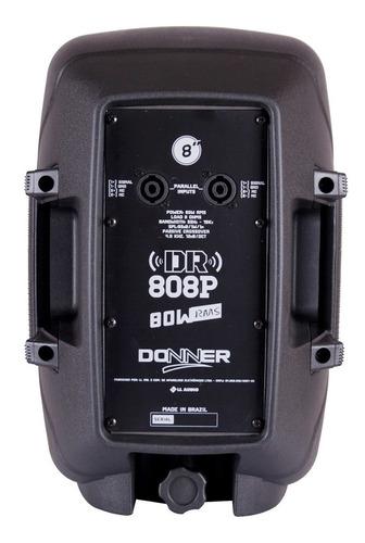 caixa de som passiva 8 polegadas 80w dr808 ll áudio nca ysm
