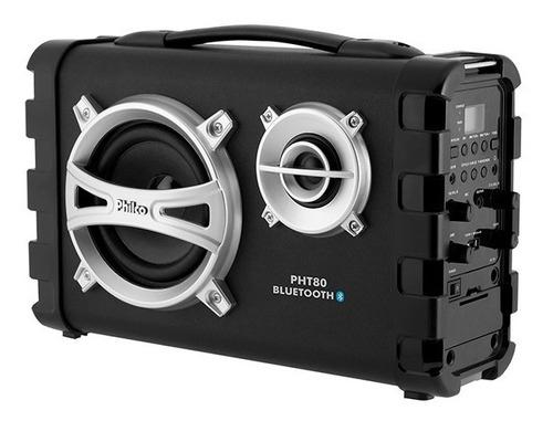 caixa de som philco 80w bateria usb fm bluetooh  - pht80