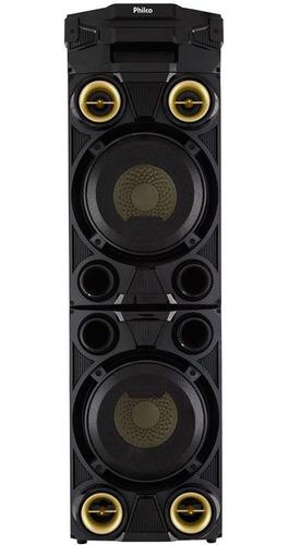 caixa de som philco pcx11000 1200w rms bluetooth usb com led