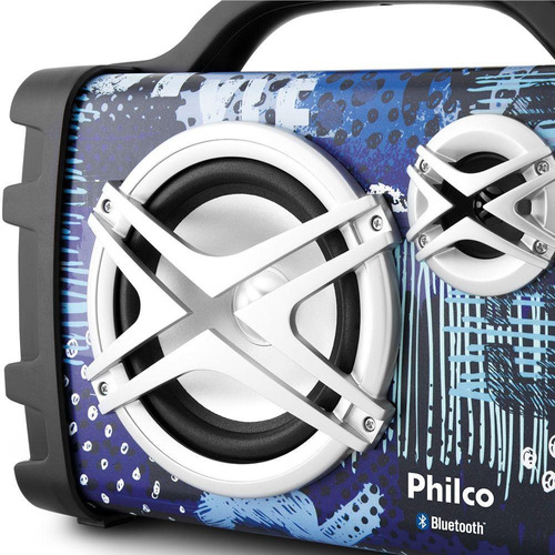 caixa de som philco pcx120 100w rms bluetooth mp3 usb bivolt