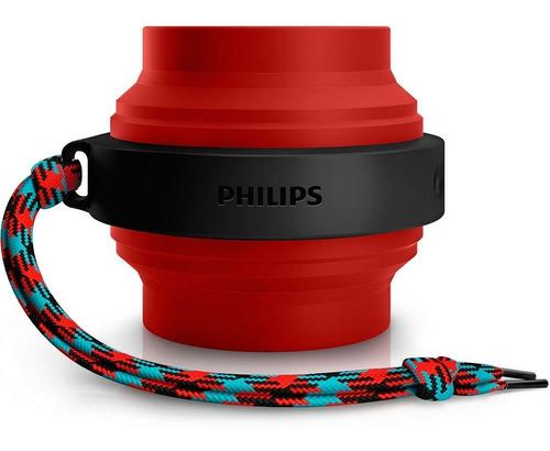 caixa de som philips bluetooth p2 aux recarregável vermelha