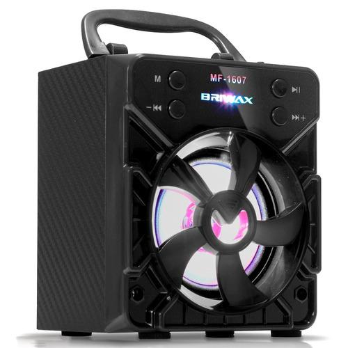 caixa de som portátil bluetooth 10w mp3 usb rádio fm sd aux