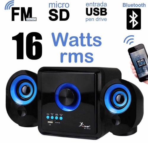 caixa de som portatil bluetooth 2.1 mp3 fm pc micro system 1