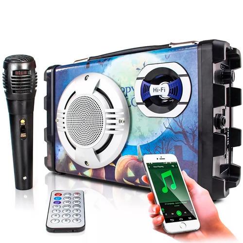 caixa de som portátil bluetooth amplificada rádio fm usb mp3