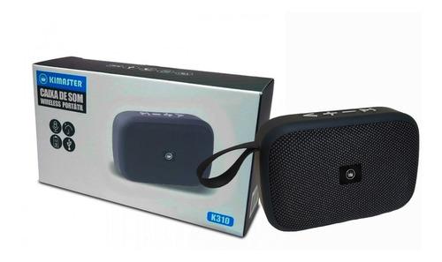 caixa de som portátil bluetooth kimaster k310