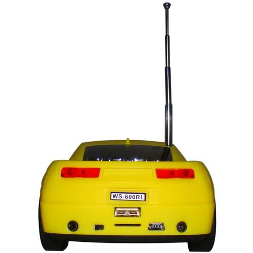 caixa de som portátil camaro rádio fm entrada usb micro p2