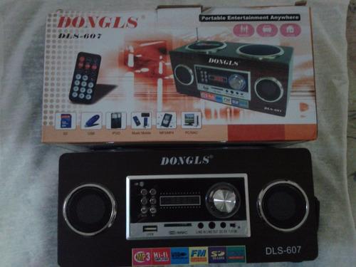 caixa de som portatil dongls dls-607 fm -usb - sd