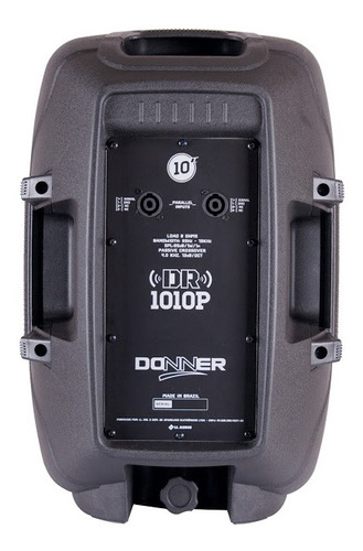 caixa de som portátil donner passiva dr1010p 120w rms