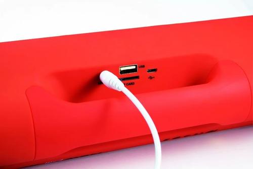caixa de som portátil frahm sb215 bt vermelha full