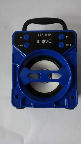 caixa de som portátil inova rádio fm / usb