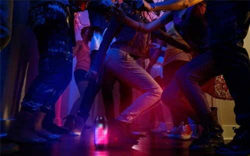 caixa de som portátil led dancing