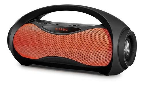 caixa de som portátil mondial nsk-04 preto/laranja - bivolt