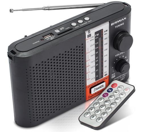 caixa de som portátil rádio analógico mp3 usb am fm controle