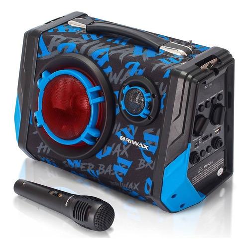 caixa de som portátil sem fio bluetooth amplificada 65w rms entrada para 2 microfone mp3 usb