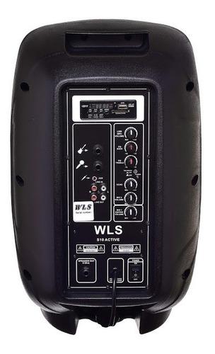 caixa de som s10 wls áudio ativa c/ bluetooth e usb 10' 150w