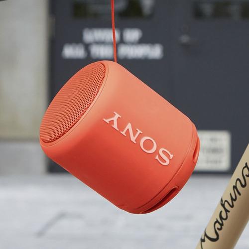 caixa de som sony srs-xb10 - nfc extra bass - vermelha