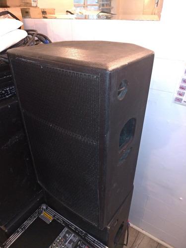 caixa de som soundbox impact 15 kit ativa + passiva