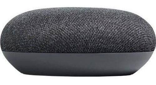 caixa de som speaker google home mini wi-fi original preta