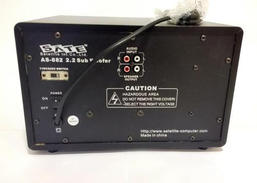 caixa de som subwoofer as-882 2.2 vitrine