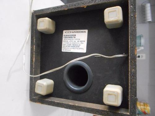 caixa de som subwoofer philips csw3600/19