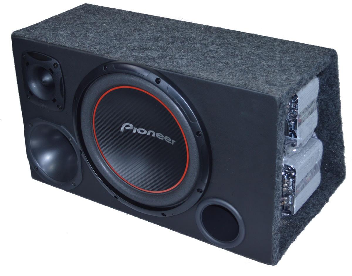 caixa de som subwoofer pioneer 12 2 amplificador taramps. Black Bedroom Furniture Sets. Home Design Ideas